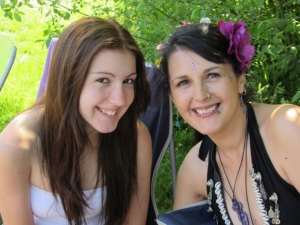 My beautiful daughter and I at the Beltane Picnic, another happy memory